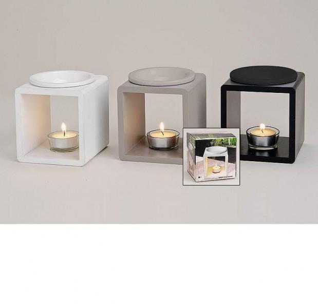 duftlampe mila modern aus holz und keramik tischdeko modern. Black Bedroom Furniture Sets. Home Design Ideas