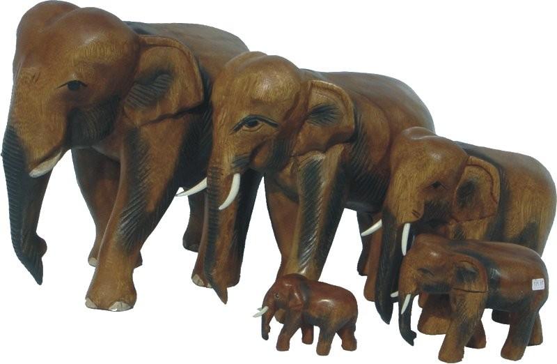 elefant laufend holz elefant tierfiguren afrika
