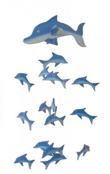 mobile delfin aus albesia holz windspiel windspiele. Black Bedroom Furniture Sets. Home Design Ideas