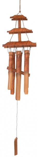 Bambus-Windspiel Tempel geflammt