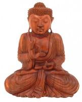 buddha mit erhobener hand holz skulptur asien skulpturen figuren asien. Black Bedroom Furniture Sets. Home Design Ideas