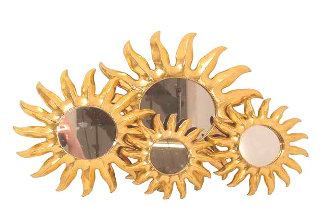 Deko spiegel sun holz 4 gr en wandschmuck bilder - Wandschmuck holz ...