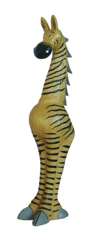 holz zebra comic deko zebra tierfiguren afrika. Black Bedroom Furniture Sets. Home Design Ideas