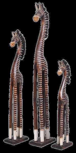 holz zebra deko zebra in 3 gr en tierfiguren afrika. Black Bedroom Furniture Sets. Home Design Ideas