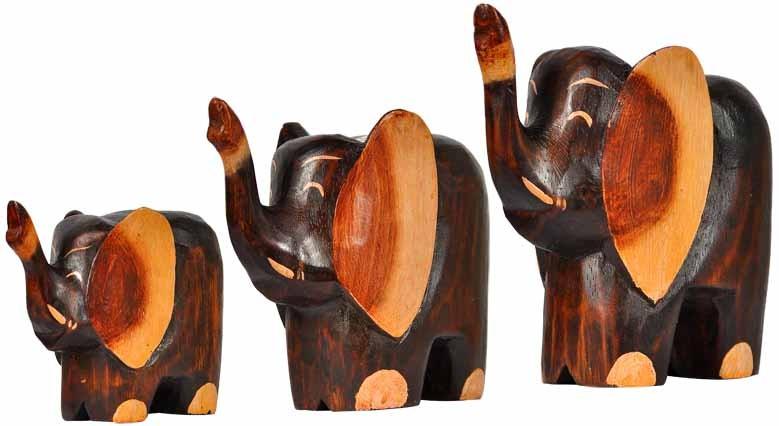 holz elefant oki handgeschnitzt und bemalt tierfiguren afrika. Black Bedroom Furniture Sets. Home Design Ideas